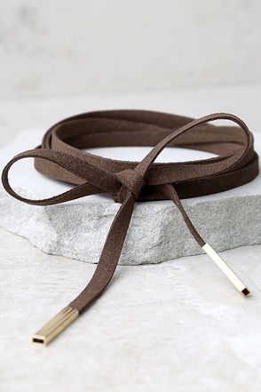 Unity Brown Wrap Necklace at Lulus.com!