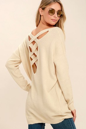 All Time Best Beige Backless Sweater 1