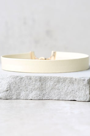 Without a Doubt Cream Choker Necklace at Lulus.com!