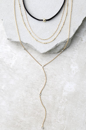You Complete Me Black and Gold Necklace Set at Lulus.com!