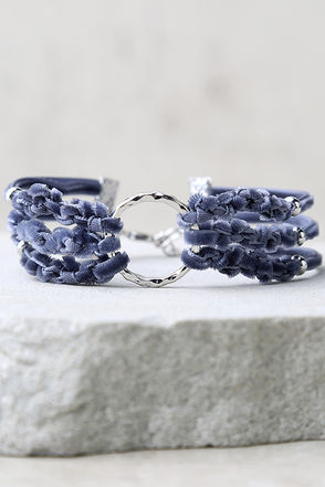 How I Feel Blue Velvet Bracelet at Lulus.com!