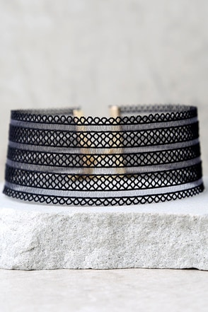 Endless Harmony Grey Choker Necklace at Lulus.com!