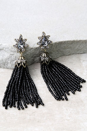 Faithfully Red Beaded Tassel Earrings at Lulus.com!