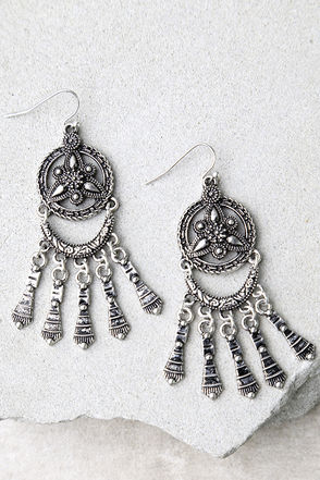 Only a Dream Silver Earrings at Lulus.com!