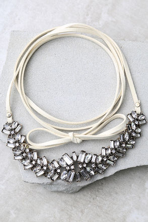 Transcendental Cream Rhinestone Wrap Necklace at Lulus.com!