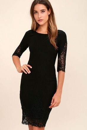 Midnight Garden Black Lace Bodycon Dress at Lulus.com!