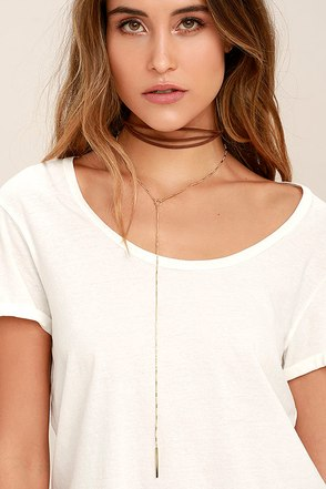 Country Air Gold and Ivory Choker Necklace Set at Lulus.com!