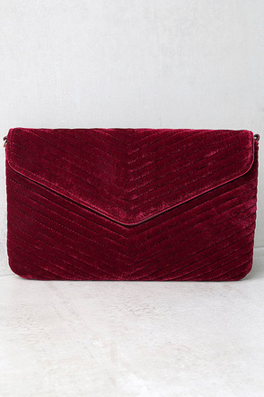 Keep it Poppin' Mauve Pink Velvet Clutch at Lulus.com!