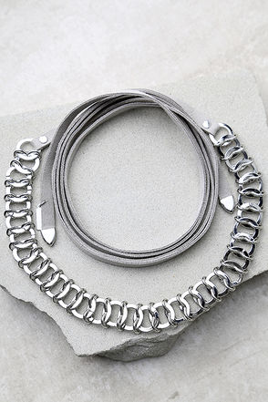 Reign Supreme Silver and Grey Wrap Necklace at Lulus.com!