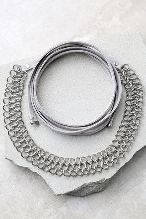 Affinity Silver and Black Wrap Necklace at Lulus.com!