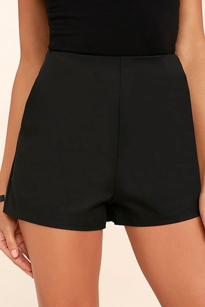 Always in Love Black High-Waisted Shorts at Lulus.com!