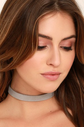 Modernist Grey Choker Necklace at Lulus.com!