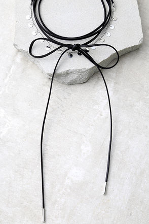 Echo in Time Black and Silver Wrap Necklace at Lulus.com!