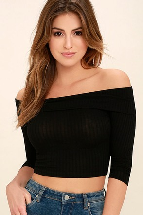 Praiseworthy Rusty Rose Off-the-Shoulder Crop Top at Lulus.com!