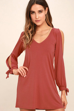 Glory of Love Rusty Rose Shift Dress at Lulus.com!