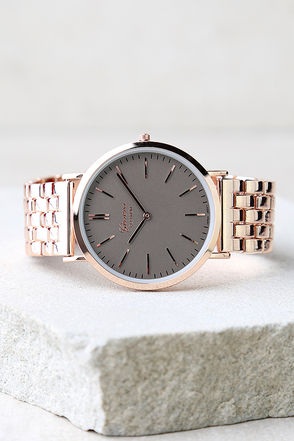 Time Change Grey and Rose Gold Watch 1
