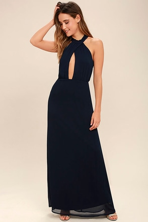 Beyond Explanation Navy Blue Maxi Dress 1