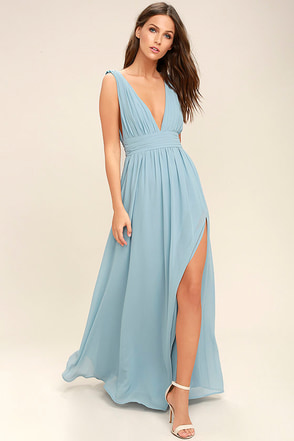 Heavenly Hues Light Blue Maxi Dress 1