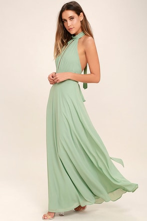 First Comes Love Sage Green Maxi Dress 1