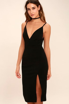 Chart Topper Black Bodycon Dress 1