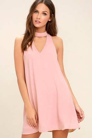 Groove Thing Blush Pink Swing Dress 1