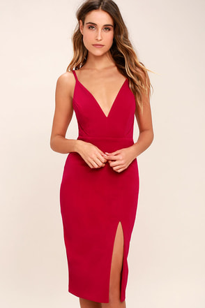 Chart Topper Berry Pink Bodycon Dress 1