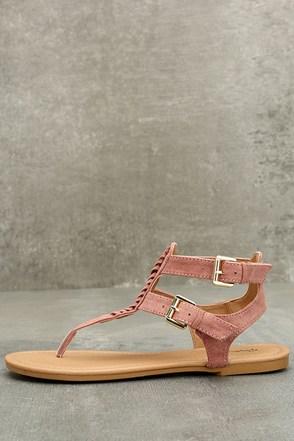 Sonata Tan Ankle Strap Flat Sandals
