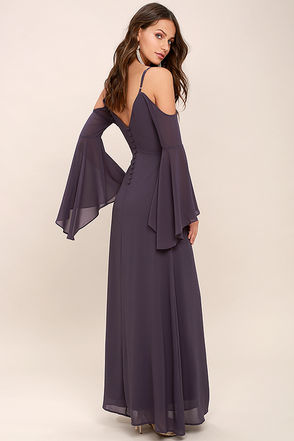 Glamorous Greeting Dusty Purple Maxi Dress 1