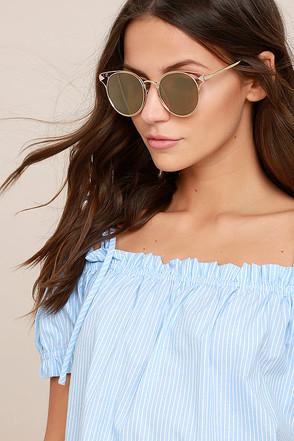 Good Golly Gold Mirrored Sunglasses 1