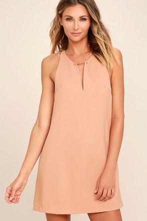 Near or Bar Blush Shift Dress 1