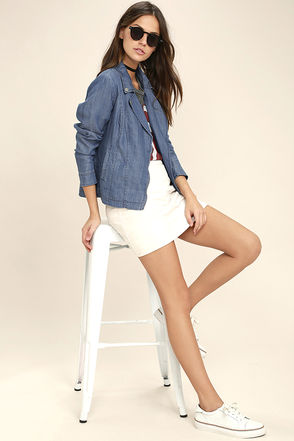 Cloudless Sky Blue Chambray Jacket 1