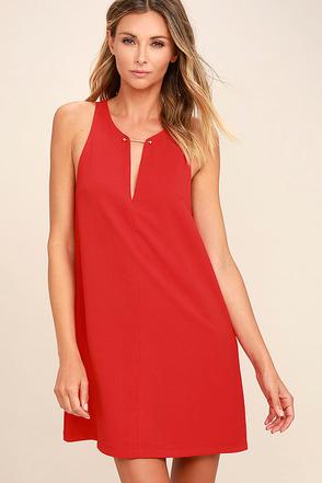 Near or Bar Red Shift Dress 1