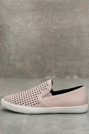 Perla Nude Perforated Slip-On Sneakers 1