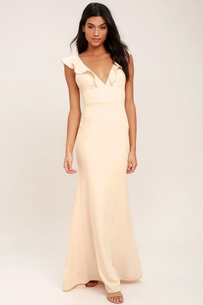 Perfect Opportunity Pale Blush Maxi Dress 1