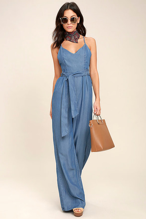 Cruise Blue Chambray Jumpsuit 1