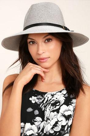 Adventure in Costa Rica Grey Straw Hat 1