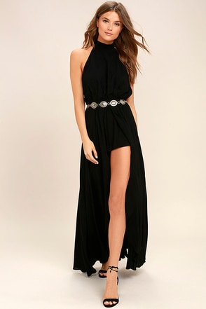 Secret Hideaway Black Halter Romper 1