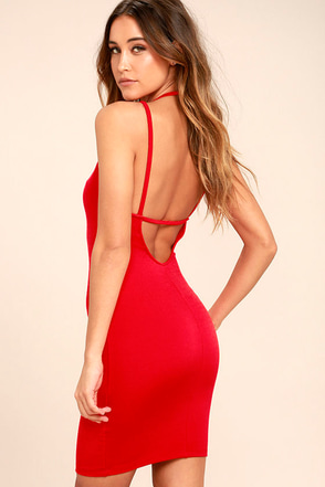 Favorite Distraction Red Backless Bodycon Dress 1