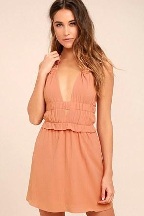 Tavik Rose Blush Pink Halter Dress 1