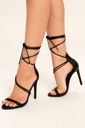 Lace-Up Heels, Black Lace-Up Heels, Caged Heels at Lulus