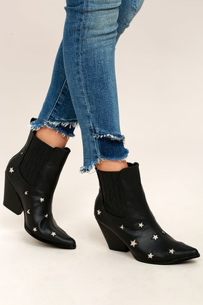 Polaris Black Pointed Mid-Calf Boots 1