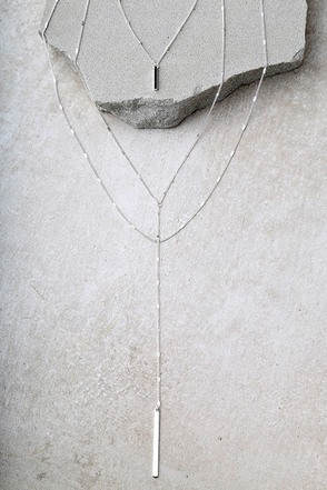 Ardent Silver Layered Necklace 1