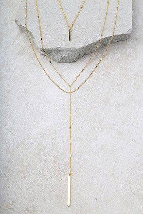 Ardent Gold Layered Necklace 1