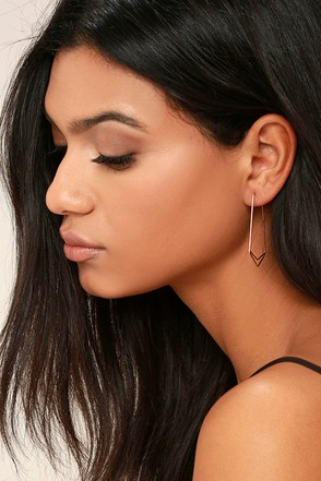 Geometry 101 Rose Gold Earrings 1