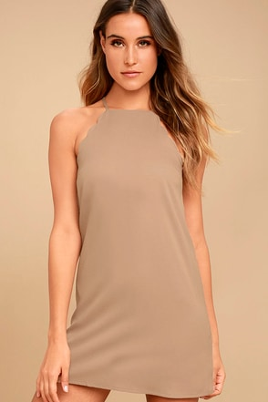 Endlessly Endearing Taupe Dress 1
