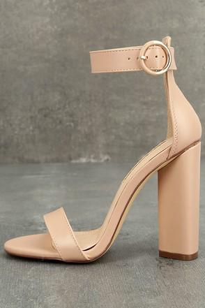 Kamali Nude Ankle Strap Heels 1