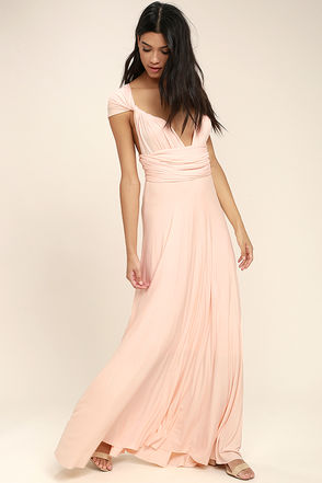 Tricks of the Trade Blush Pink Maxi Dress 1