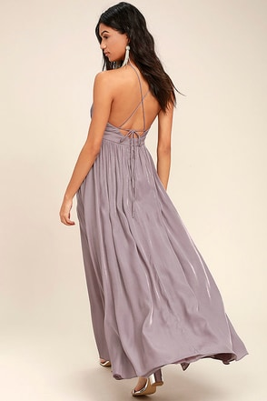 On My Own Dusty Purple Maxi Dress 1