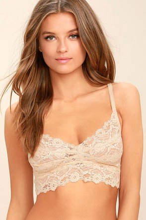 I Like You Peach Lace Bralette 1