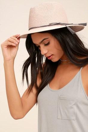 Sun Dweller Blush Straw Hat 1